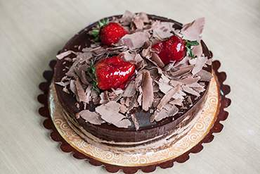 Torta Musse de Chocolate.